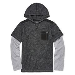 Distortion Long Sleeve Hooded Tee Boys 8-20