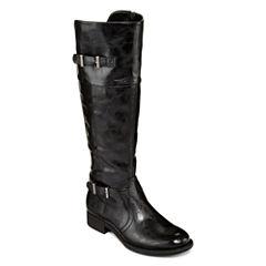 Yuu™ Rocio Womens Double-Buckle Riding Boots