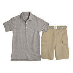 French Toast® Short-Sleeve Polo or Belted Cargo Shorts - Boys 8-20