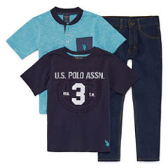 Us Polo 3-pc. Pant Set