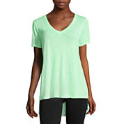 City Streets® Short-Sleeve Side Slit Tee - Juniors