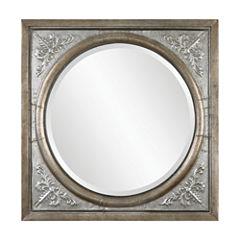 Ireneus Burnished Silver Metal Mirror
