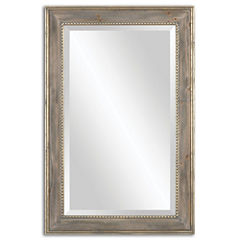 Quintina Antique Gold Leaf Rectangle Mirror