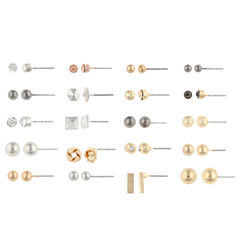 Decree 1 Pair Clear Earring Sets