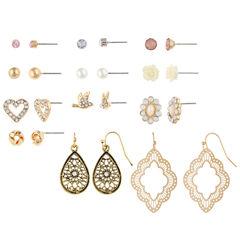 Decree 12-pc. Multi Color Earring Sets