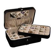 Mele & Co. Lila Black Faux-Leather Jewelry Box