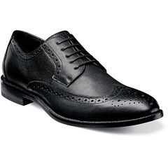 Stacy Adams® Garrick Mens Leather Wingtip Oxfords