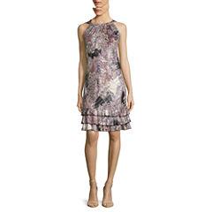 MSK Sleeveless Ruffle-Hem Shift Dress - Petite