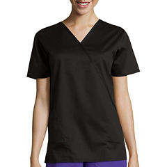 WonderWink® Womens Mock Wrap Top