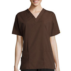 WonderWink® Womens Bravo Short-Sleeve 5-Pocket V-Neck Top
