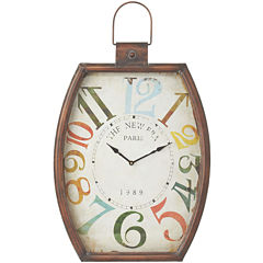 Distressed Colorful Numbers Wall Clock