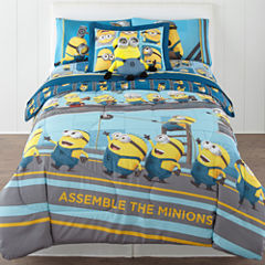 Despicable Me Industrial Minions Reversible Twin/Full Comforter + BONUS Sham