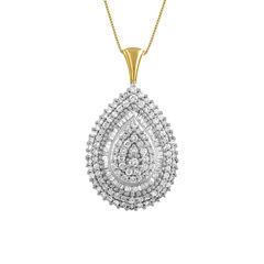 2 CT. T.W. White Diamond Round 14K Gold Pendant