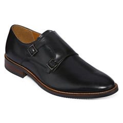 Stafford® Redwood Mens Leather Double-Monk Strap Dress Shoes