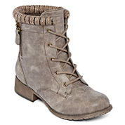 Pop Hemet Lace-Up Combat Booties