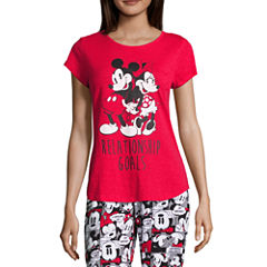 Disney Short Sleeve Scoop Neck Pajama Top-Juniors