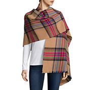 Mixit™ Pleated Plaid Wrap