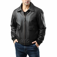 G 2 Goatskin Leather Bomber Jacket Tall