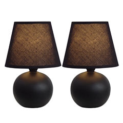 Simple Designs 2-pc. Ceramic Table Lamp