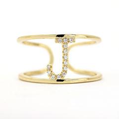 Sparkle Allure Adjustable Gold J Band