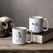 Cathy's Concepts Dancing Skeletons Large 20-Oz. Coffee Mug Set