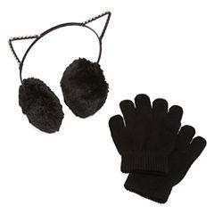 Capelli of N.Y. KIitty Ear Muffs and Gloves-Big Kid Girls