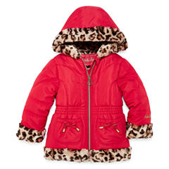 Girls Midweight Puffer Jacket-Toddler