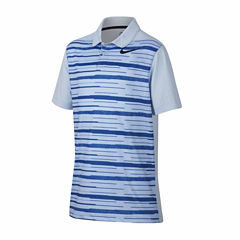 Nike Short Sleeve Solid Knit Polo Shirt - Big Kid Boys