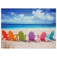 Oriental Furniture Beach Chairs Canvas Art