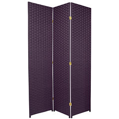 Oriental Furniture 6' Woven Fiber Special Edition3 Panel Room Divider