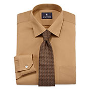 Stafford® Travel Easy-Care Dress Shirt and Tie Set - Big &Tall