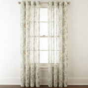 JCPenney Home™ Bismarck Grommet-Top Sheer Curtain Panel
