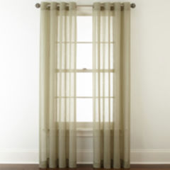 grommet sheer curtains for window - jcpenney