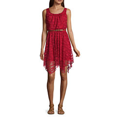 As U Wish Sleeveless Skater Dress-Juniors