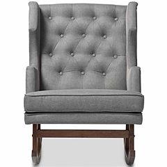 Baxton Studio Iona Tufted Rocking Chair