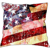 Flower Flag Decorative Pillow