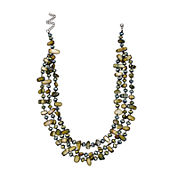 Mixit™ Olive 3-Row Shell Necklace