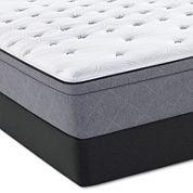 Sealy® Posturepedic® Plus Spoleti Park Cushion Firm Euro-Top - Mattress + Box Spring