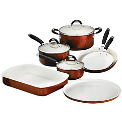 Tramontina Style Ceramica 10-pc. Metallic Copper Cookware and Bakeware Set
