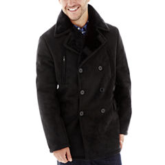 Excelled® Faux-Shearling Pea Coat
