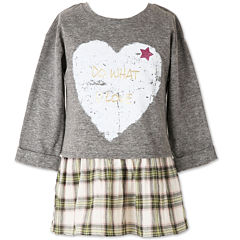 Speechless 3/4 Sleeve Layered Top - Big Kid Girls