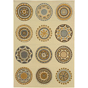 Covington Home Medallion Indoor/Outdoor Rectangular Rug