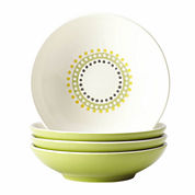 Rachael Ray® Circles and Dots Set of 4 Fruit Bowls