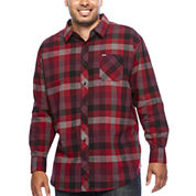 Zoo York® Long-Sleeve Mercury Woven Plaid Shirt - Big & Tall