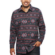 Zoo York® Long-Sleeve Aztec Print Woven Shirt - Big & Tall