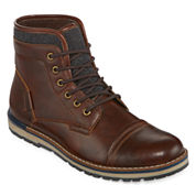 JF J. Ferrar® Tookers Mens Lace-Up Fashion Boots