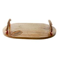 Thirstystone® Urban Farm Mango Wood Tray With Rope Handles