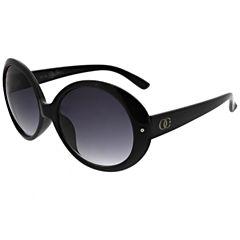 Oleg Cassini Full Frame Round UV Protection Sunglasses-Womens