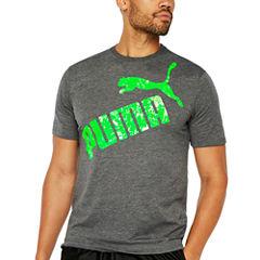 Puma Cracked Foil Tee Short Sleeve Crew Neck T-Shirt