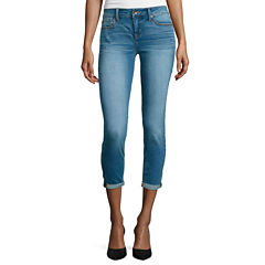 Stylus™ Roll-Cuff Skinny Ankle Jeans